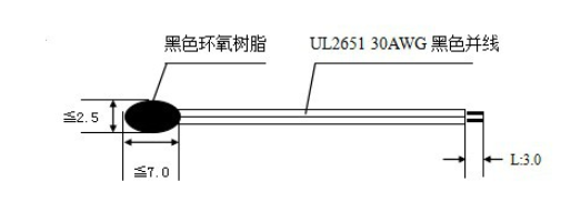 epoxy type pvc wires 2k 1% ntc temperature sensor