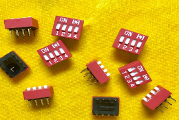DIP Switch Slide Type Red 2.54mm Pitch 2 Row DIP Toggle switches 1P2P3P4P5P6P7P8P10P