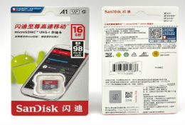 New and orignal Sandisk A1 class10 SD card, 8/16/32/64/128/200/256/400/512GB